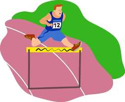 runner hurdle