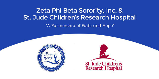 Zeta Phi Beta and St. Jude Children's Research Hospital logos
